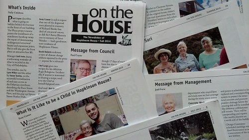 Hopkinson House newsletter